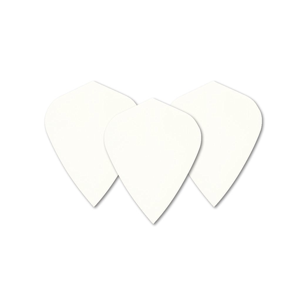 White Kite Dart Flights - 5 sets per pack (15 flights in total) & Red Dragon Checkout Card