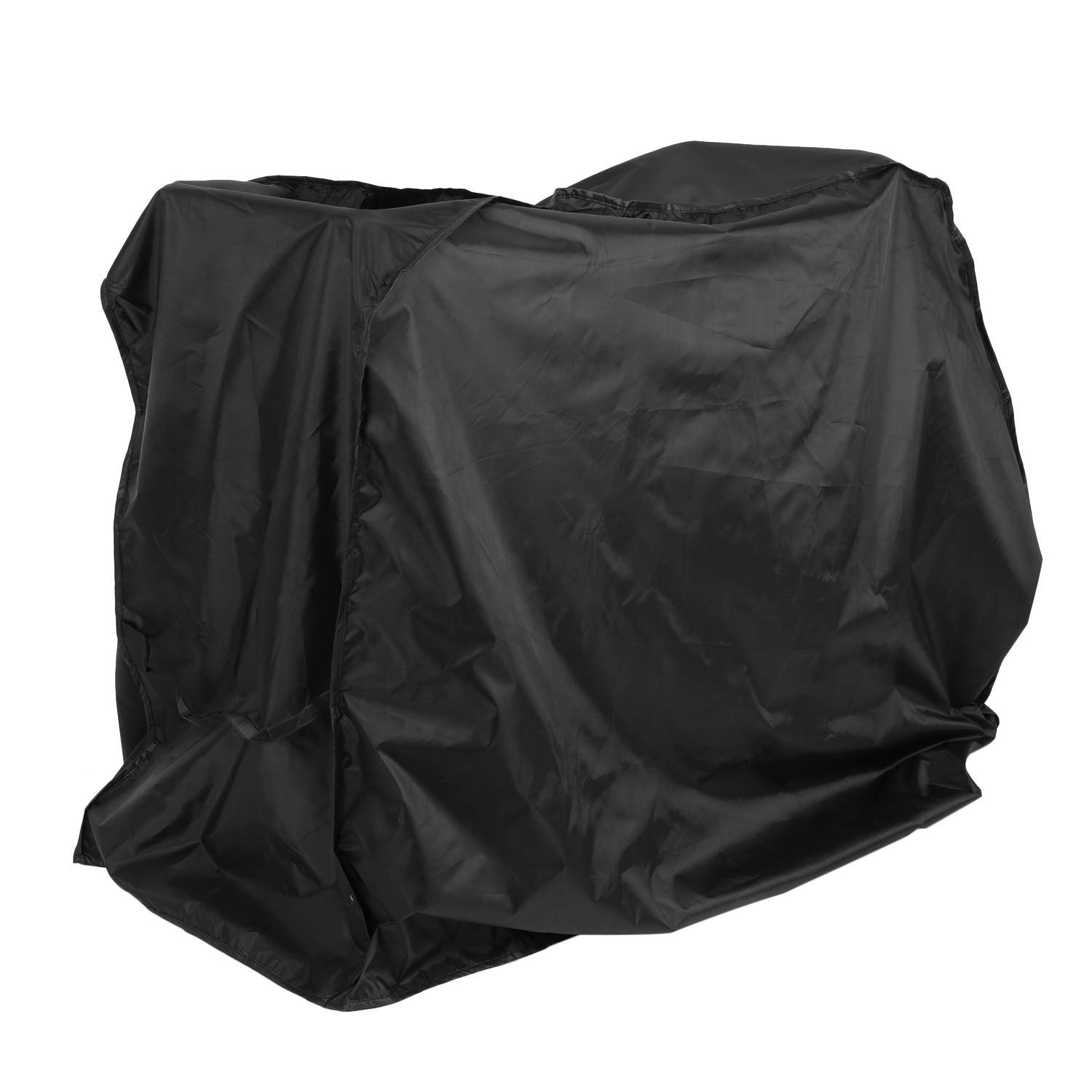 Foreverharbor 190T 210D Outdoor BBQ Grill Covers Gas Heavy Duty for Home Patio Garden Storage Waterproof Barbecue Grill Cover BBQ Accessories(Color:Black)