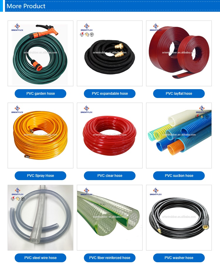 High pressure flexible 3 4 inch pvc 2 water pump hose  kit