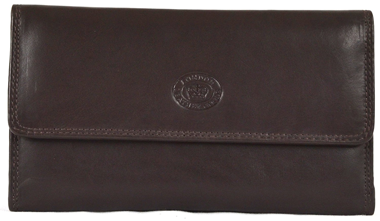 87db812b44b Ladies Soft Nappa Large Matinee Leather Wallet with Back and Inner Zip