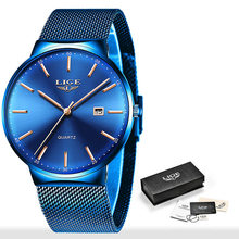 2019 новые мужские часы, мужские водонепроницаемые ультратонкие кварцевые часы с автоматической датой, мужские Модные простые стальные спор...(Китай)