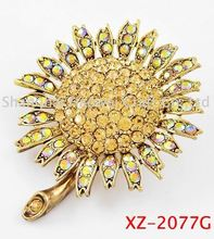 XZ-2077G Latest product long lasting rose flower brooch wholesale
