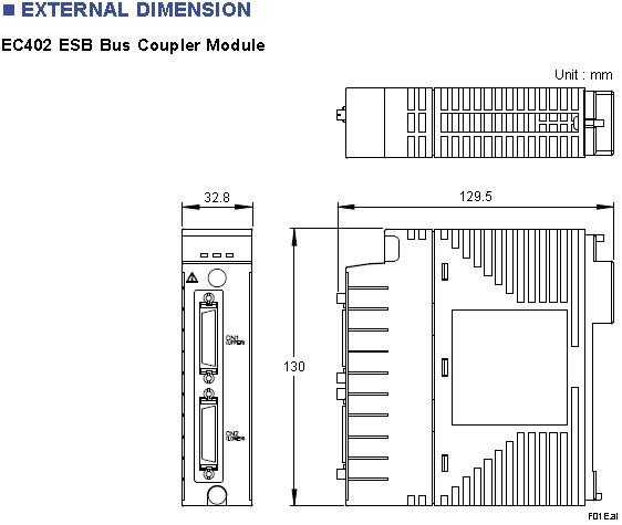 Yokogawa Model EC402 ESB Bus Coupler Module (for AFV30/AFV40, 2-Port)