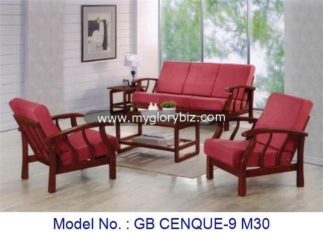 Conjunto de sofás de madera, muebles de madera, living sofá, sofá ...