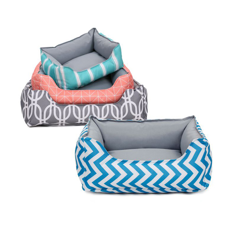 Hot Sale Wholesale New Design Water-Proof Geometry Pattern Pet Bed For Dog Cat Manufacturer Pet Accessories