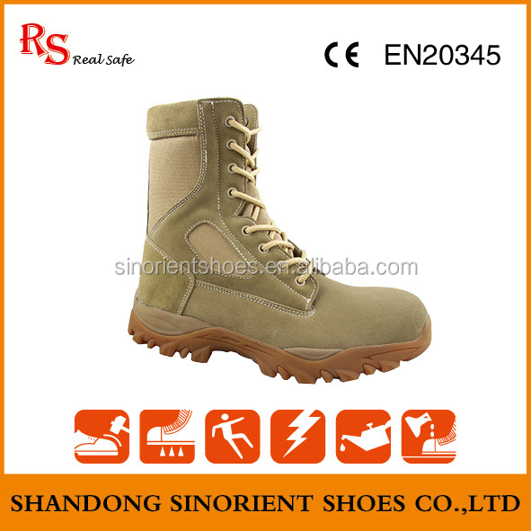 Hot selling beige military desert boots Jungle military tactical boots Used military boots prices SNS737