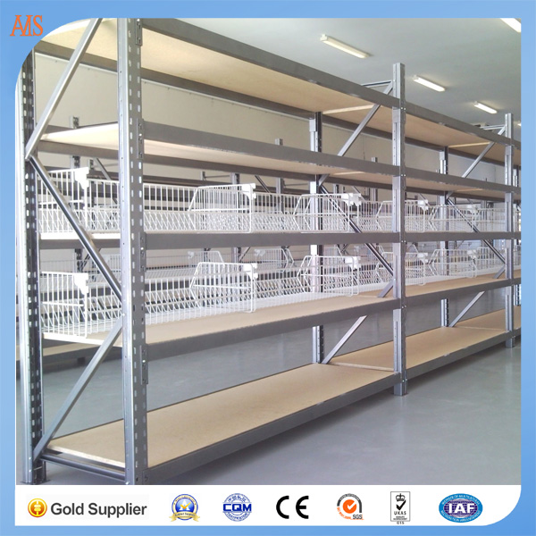Teardrop long span shelving warehouse rack numbering system