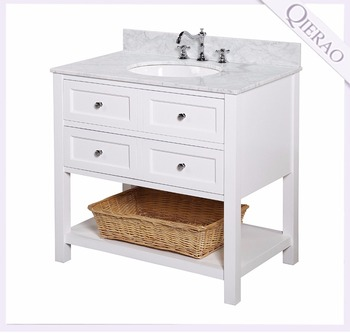 36 Inch Lowes White Modern Bathroom Vanity Combo With Ceramic Sink