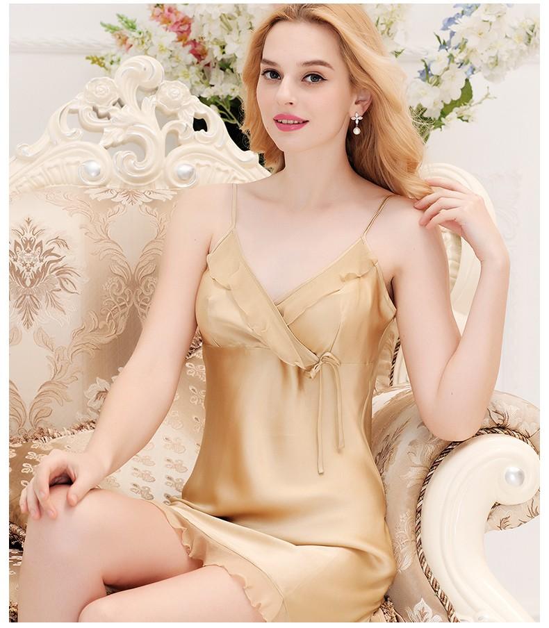 7a09aacae8 New Design Gracious And Luxury 100% Silk Nighties - Buy Women Silk ...