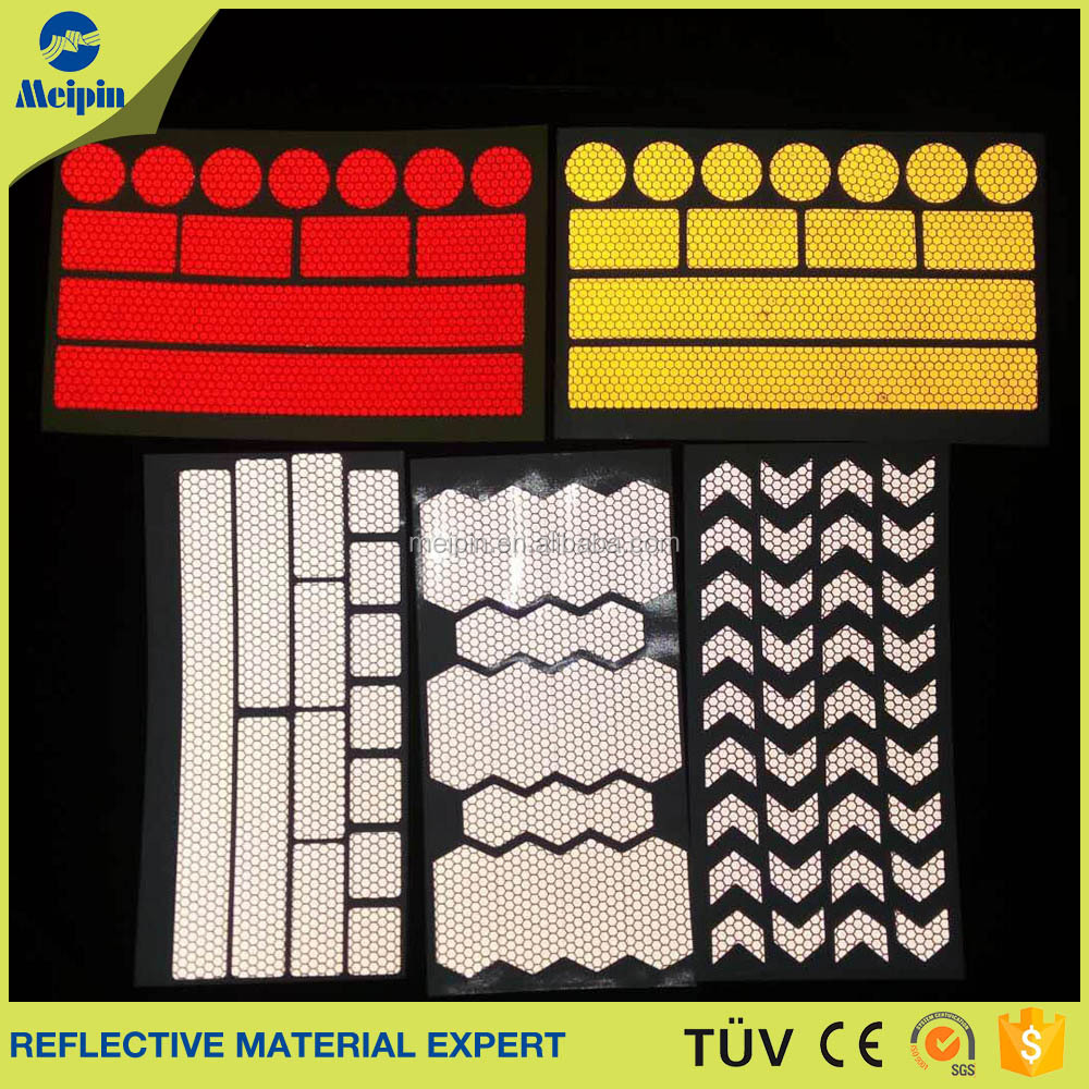 Safety Sticker Reflectors, Self-adhesive Reflective Sticker