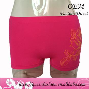 163a6bb3a Wanita petinju 95% katun bunga olahraga celana pendek petinju wanita celana  boyshorts mulus womens pakaian