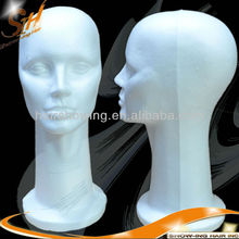 Wholesales Various wig/hat/cap/necklace/microphone display styrofoam mannequin head