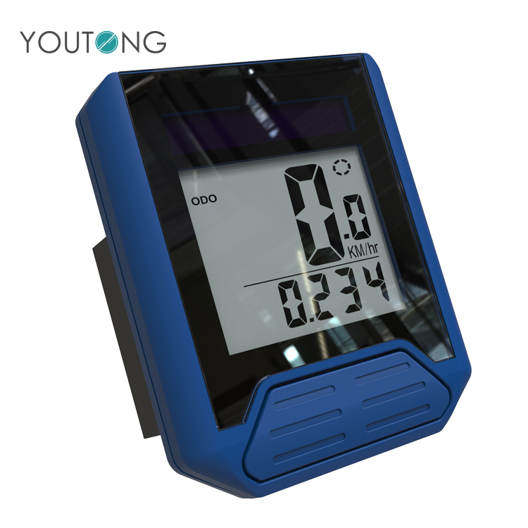 Wholesale YT6436 Blue Bicycle Road Digital Distance Meter  , Wireless GPS Bicycle Speedometer with Calorie