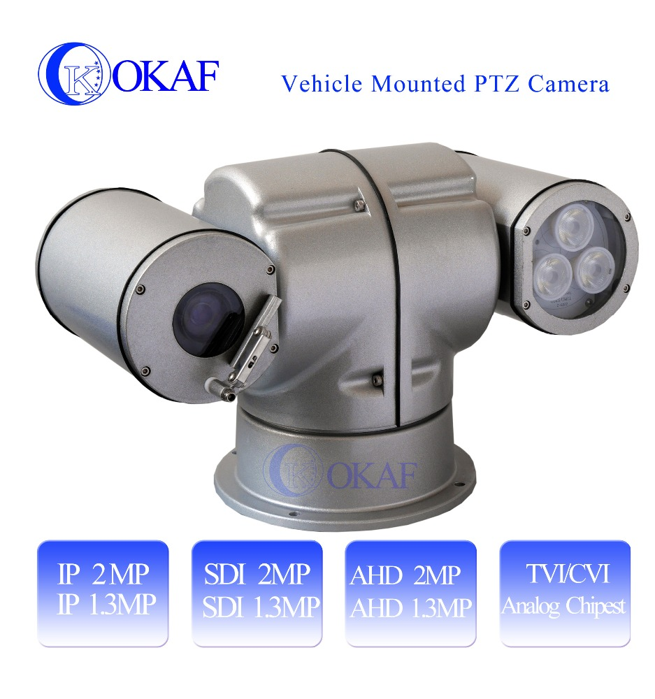 HD Night Vision IP PTZ Camera for car mounted IP 2MP/3MP/SDI/AHD 1080P