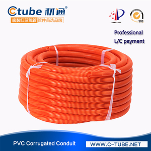 British 1/2inch 3/4inch PVC Flexible Corrugated Electrical Conduit Pipes