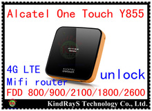 Original Unlock 4g LTE FDD wifi router 150Mbps Alcatel One Touch Y855 3G lte 4g MiFi Router mobile wifi dongle pk y800 760s 762