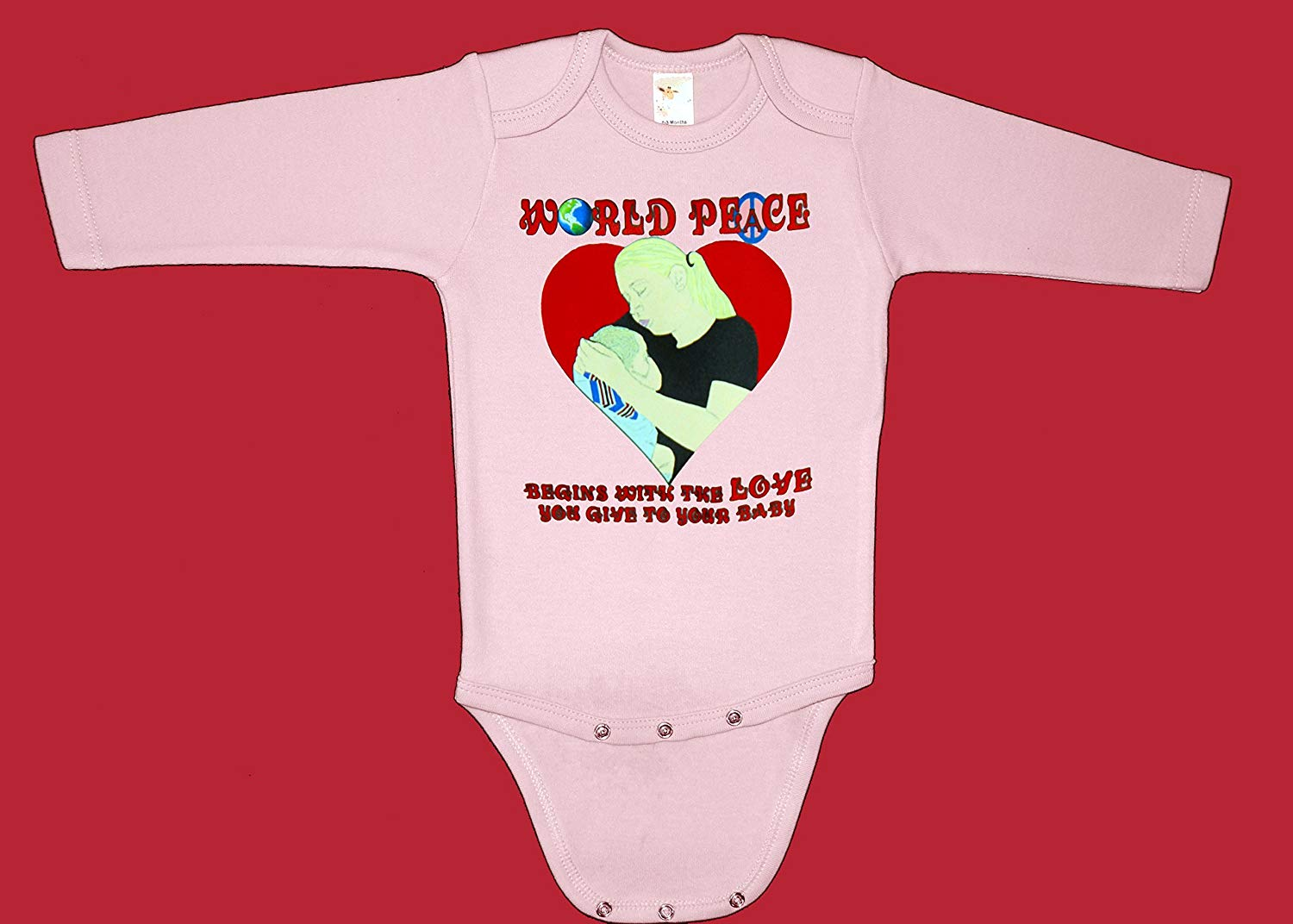 Get Quotations  C B World Peace Begins With The Love You Give To Your Baby Long Sleeve Baby Bodysuit