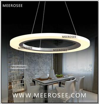 Contemporary Led Ring Pendant Light Fixture Acrylic Circle