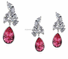 925 sterling silver cz jewelry set