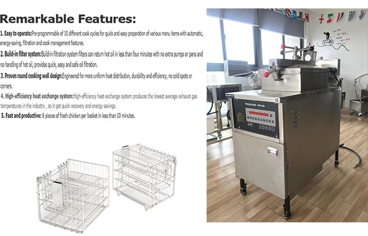 P007 broasted chicken machine/henny penny pressure fryer/kfc chicken frying machine