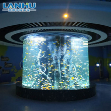China Leverancier Factory Direct Supply Custom Size Grote Acryl Cilindrische Aquarium Aquarium