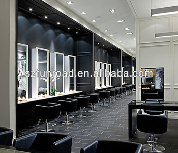 Hairdressing and beauty salon store furniture decoration for Decoration salon moderne