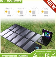 Foldable Solar Panel 18V 80W USB/DC Dual Output Solar Panel Charger for iPhone Sumsung Phones Tablets Laptops 12V Car Battery.