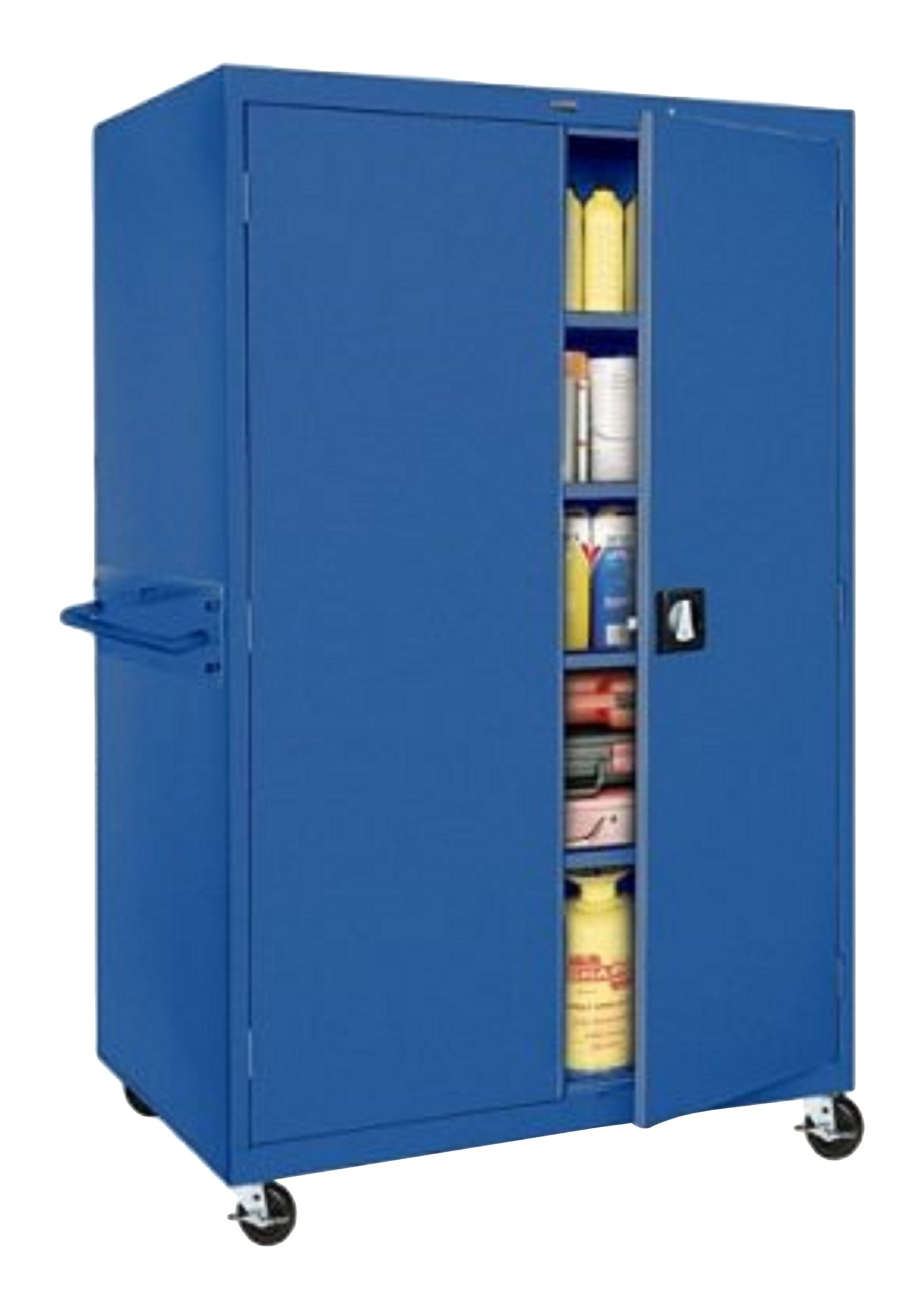 Sandusky Lee TA4R462472-06 Transport Series Mobile Storage Cabinet, Blue