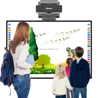 Interactive whiteboard smart board with digital pens