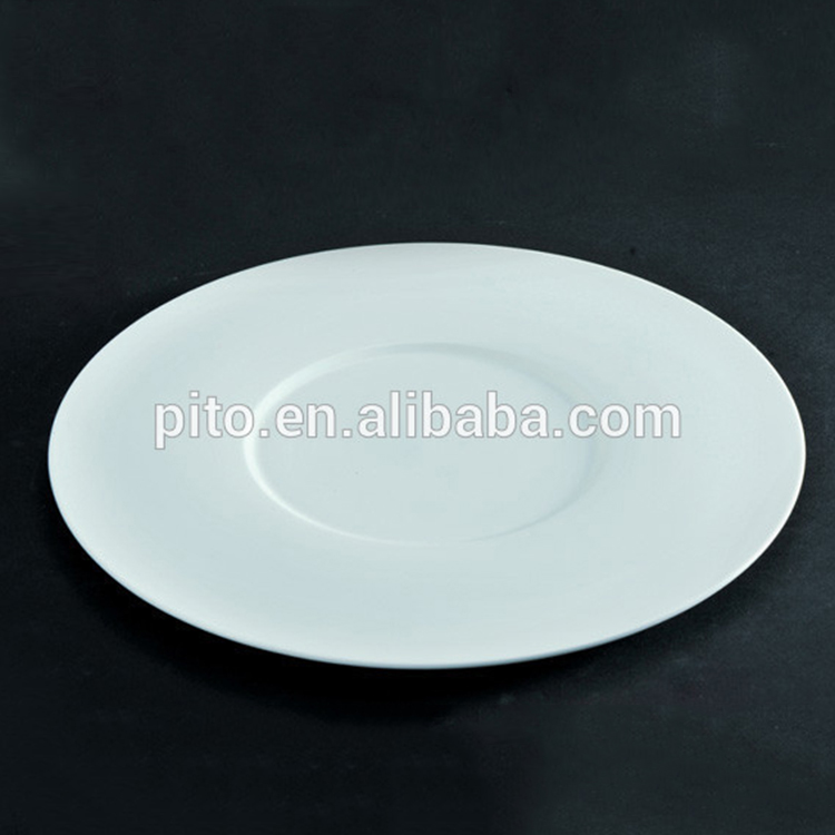 Royal Ware bone china round plates , porcelain show plates for main dish
