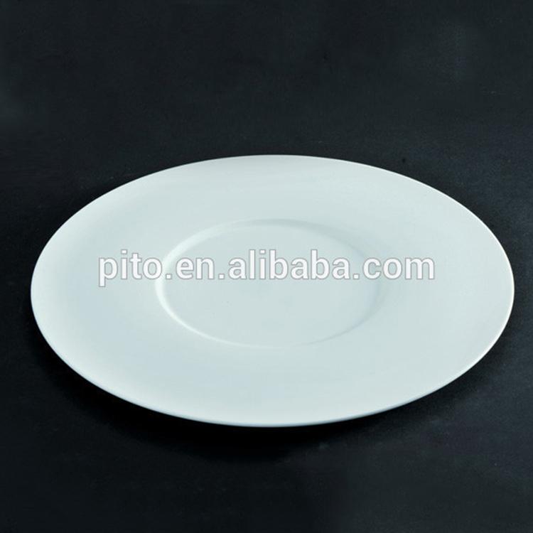 Royal Ware bone china round plates , porcelain show plates for main dish