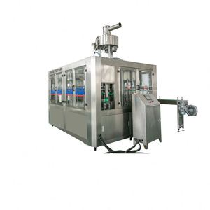 4500BPH fruit juice bottle filling machine/hot drink/tea filling 3 in 1 triblock machine with high quality