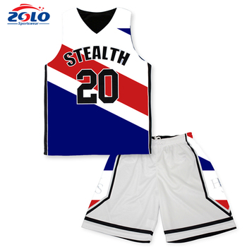 Factory latest style sports wear team design camo basketball jersey