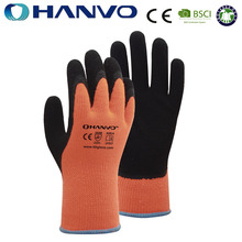 HANVO latex coated personalized top thinsulate winter gloves