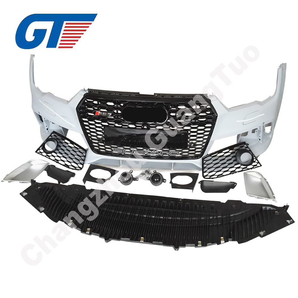 Aftermarket Facelift RS7 Front Body Kits 2016 Bumper met Grill en Andere Kits