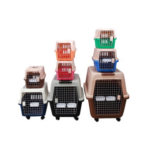 Sturdy and durable PP plastic flight carrier Transport crate top load pet dog kennel