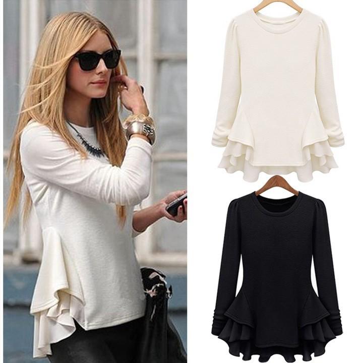 5e10f803a Venta al por mayor modelos blusas para gordas-Compre online los ...