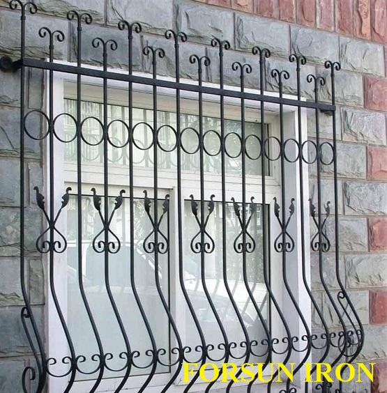 New Simple Iron Window Grill Design