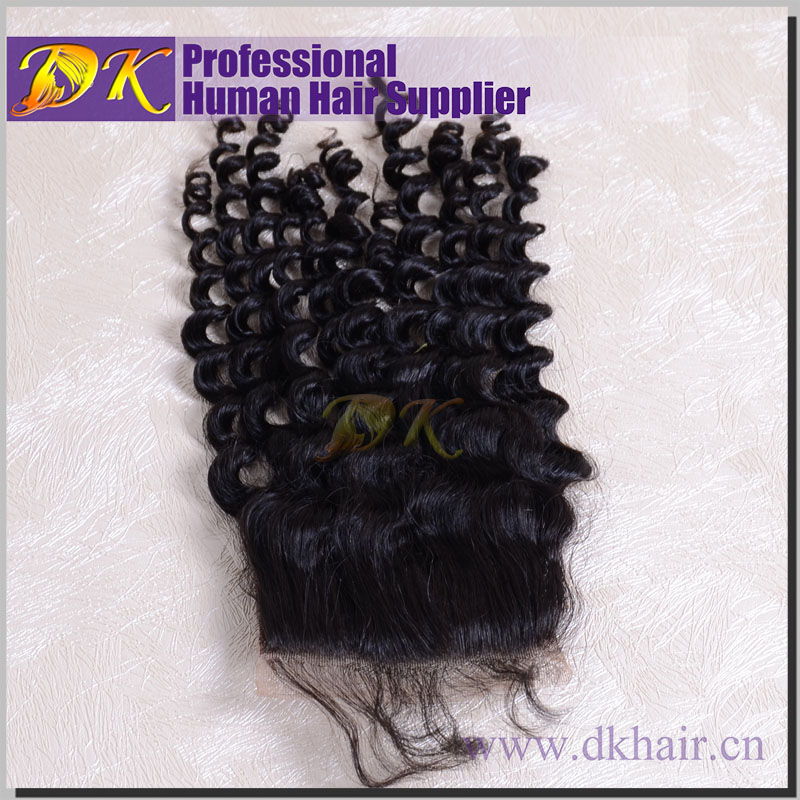 2016 taobao human hair 4X4 free parting lace c Brazilian Virgin Hair Lace Top Closure Human Hair Closure