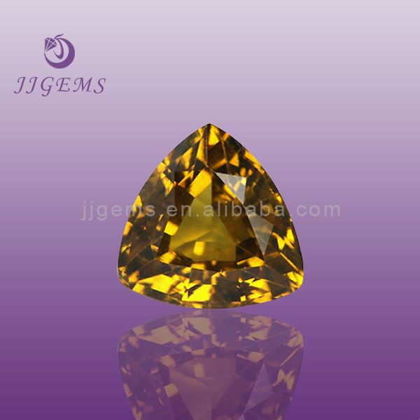 Synthetic Triangle Rare Imperial Yellow Topaz Gemstone