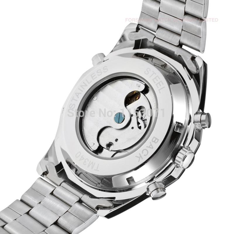 Forsining FSG340M4T1 автоматическое роскошь мужчины часы с нержавеющая сталь браслет подарочная коробка