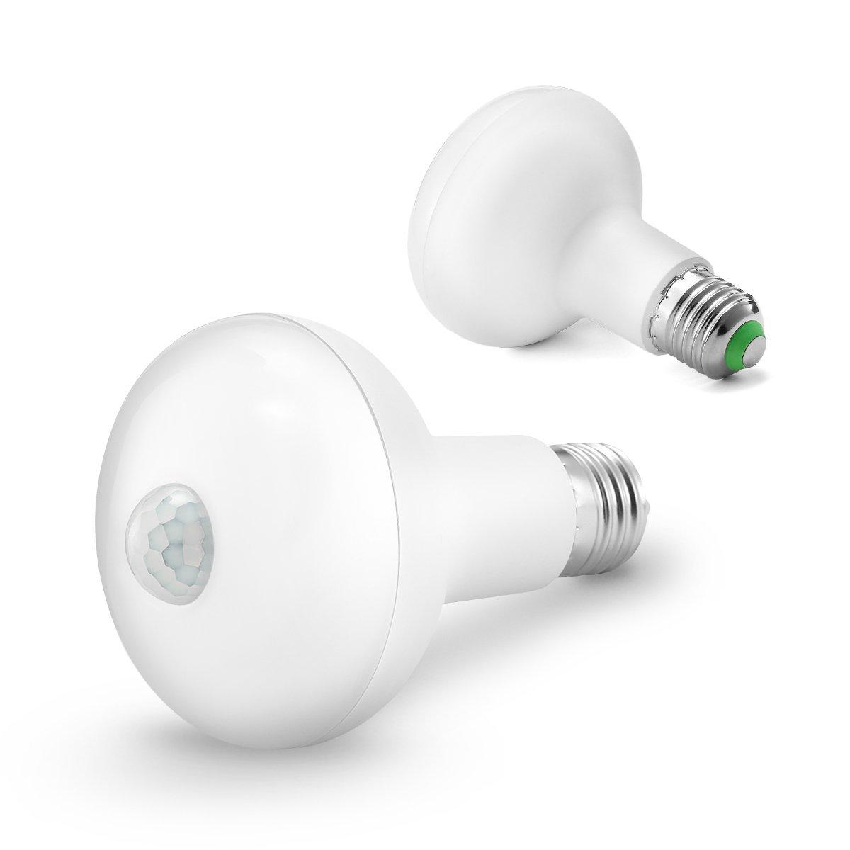 Motion Light Bulb, KINGSO E27 12W 24 LED Smartsense PIR Infrared Motion Detection Light Sensor PIR Bulb Lamp Auto Switch Stairs Night Lights Energy Saving for Security Decoration-12W Warm White