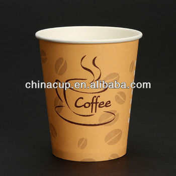 8 Oz Hot Drinking Coffee Cup Paper