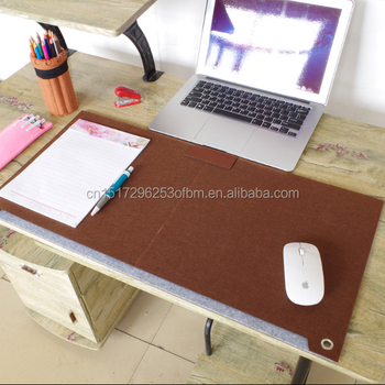 computer desk mat modern table felt office desk mat woolen pu