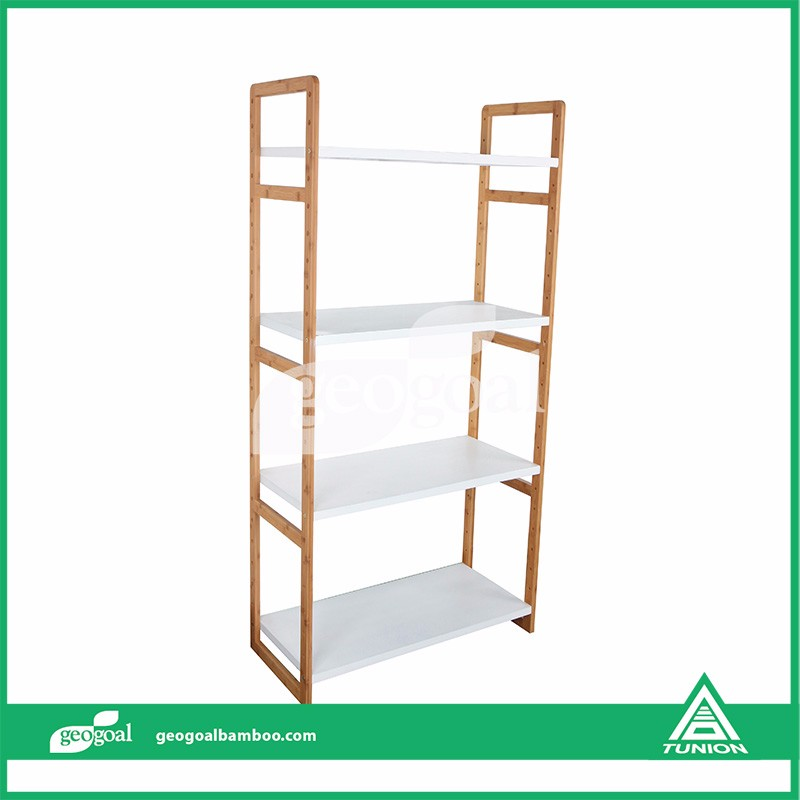 Build Free Standing Shelves Bamboo Free Standing Shelves