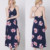 custom one piece women clothing summer backless printed boho sexy long maxi women dress