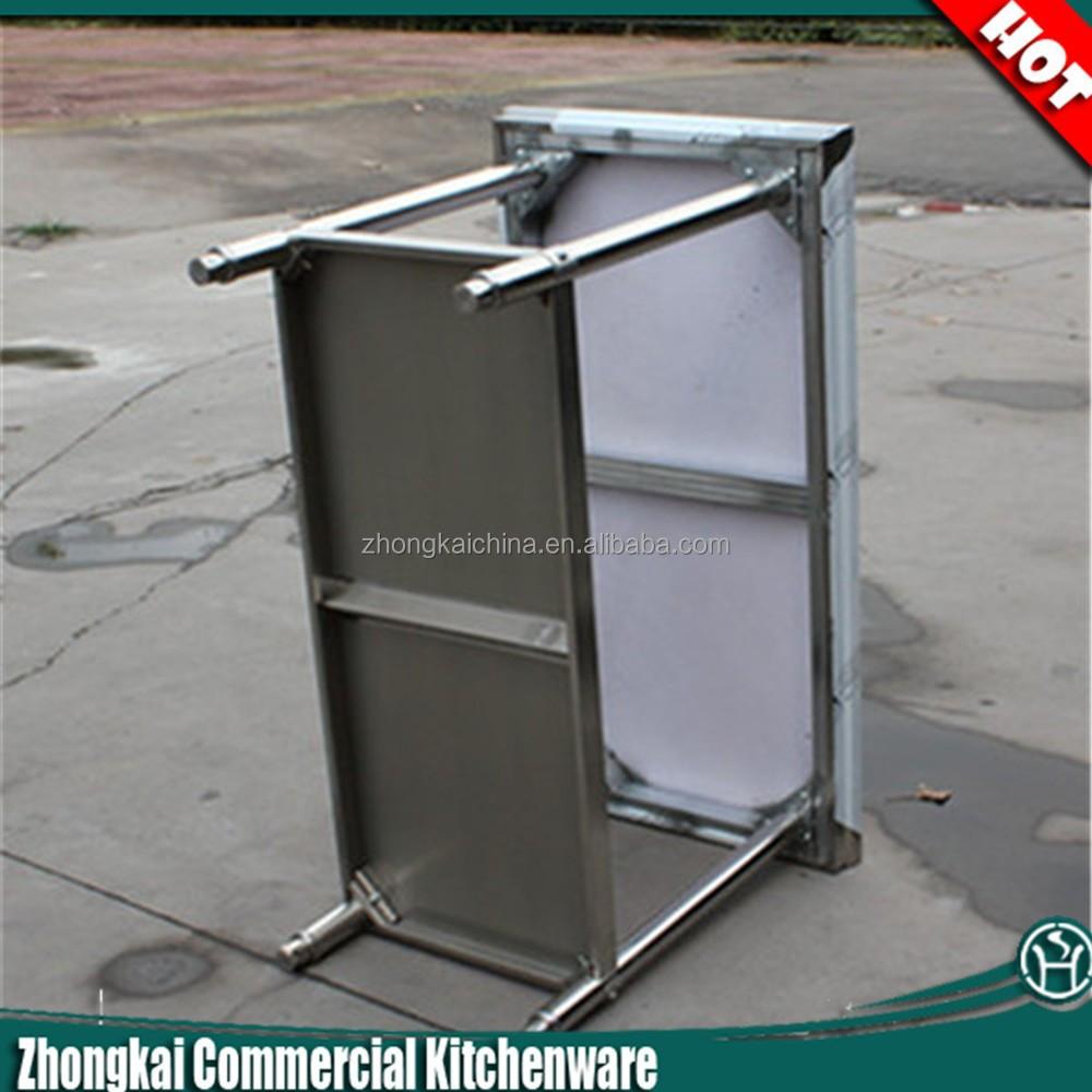 Rvs werktafel met wielen/vouwen rvs werktafel/rvs werktafel ...
