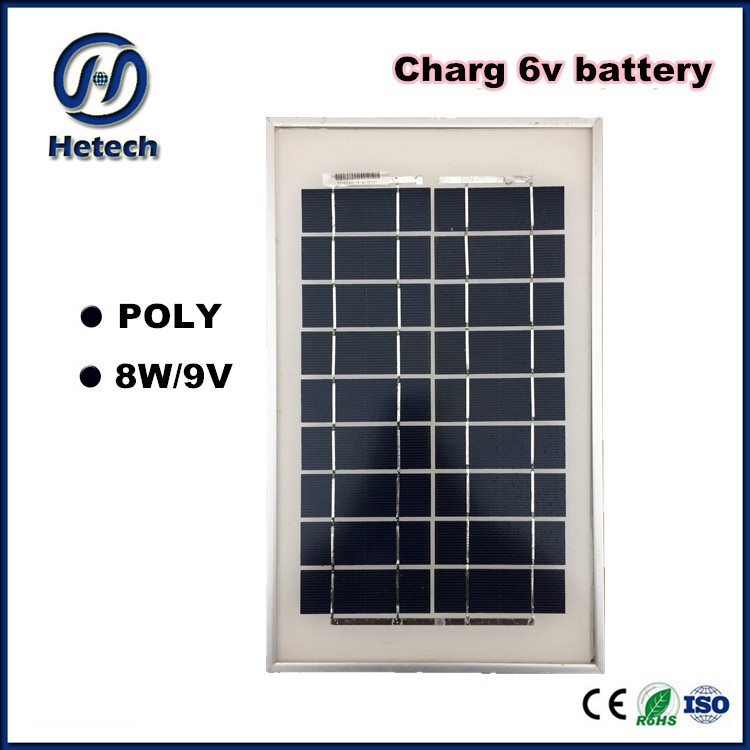 charge 6v battery poly mini small 8w solar panel 9v for Tour pal