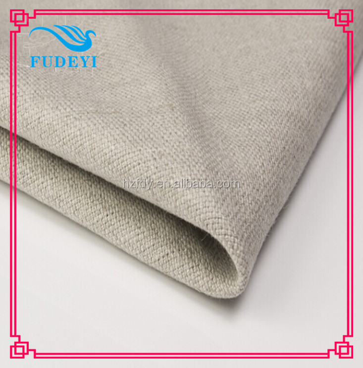 high quality polyester linen sofa fabric for sofa set home textile in Hangzhou