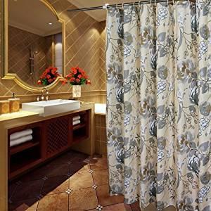 Buy Welwo Water Repellentwaterproof Fabric Shower Curtainliner Set